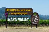 Napa valley znak. california — Zdjęcie stockowe