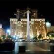 Union Square  San Francisco at night — Stock Photo