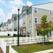 Suburban Three story Town Homes  — Stock Photo