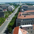Aerial view of Pennsylvania avenue in Washington DC  — Stock Photo