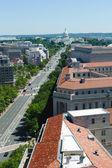 Aerial view of Pennsylvania avenue in Washington DC — Stock Photo