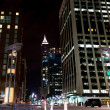 Night scene of american city downtown. Raleigh, NC — Stok fotoğraf #31279313