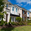 Street of new town homes — Stock Photo