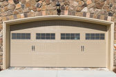 Residential house garage door — Stock Photo