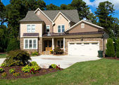 Upscale suburban house — Stock Photo
