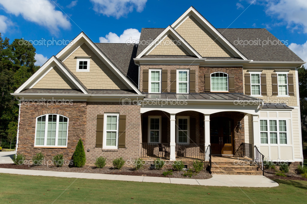 Upscale suburban house stock photo kzlobastov 32777061 for House photography