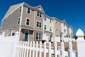 Newly build townhouses with vinyl siding — Stock Photo
