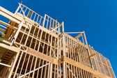 Framing of new home construction — Stock Photo