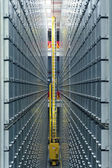 Modern library automated book storage system — Stock fotografie