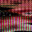Chaotic digital datpatterns behind wall of moving numbers and letters. — Stock Video #16289977