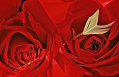 Red Roses With Arrow 088. — Stockfoto
