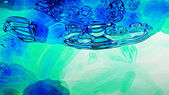 Blue Fluid 0201 — Stock Photo