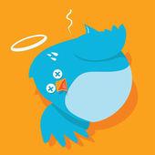 Twitless - Twitter down — Stock Vector