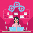 Stock Vector: Female Software engineer