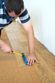 Laminate laying — Stock Photo
