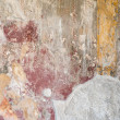 Fragment of frescos. City of Pompeii. Italy. — Stock Photo