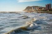 Paisaje del mar. ciudad de pezaro. italia. — Foto de Stock