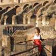 Stock Photo: Girl at Coliseum. Rome. Italy.