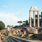 ITALY - SEPTEMBER 11: A fragment of the Roman Forum. Italy 2012 — Stock Photo
