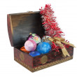 Royalty-Free Stock Photo: Christmas toys in a box