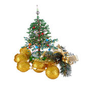 Decorative Christmas tree. (handmade). — Zdjęcie stockowe