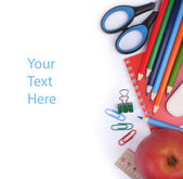Stationery set student — Stockfoto