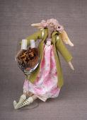 Textil handgjorda leksaker - ängel — Stockfoto