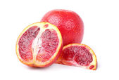 Blood oranges on a white background — Stock Photo