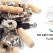 Stock Photo: Tools for assembling furniture - Background