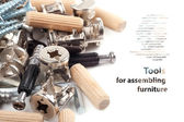 Tools for assembling furniture - Background — Stock Photo