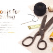 Tools for sewing - background — Stock Photo