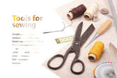 Tools for embroidery - background — Stock Photo