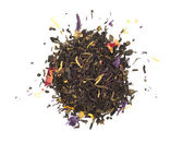 Black tea with herbs - top view — Stock Photo