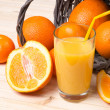Stock Photo: Freshly squeezed orange juice
