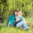 Mother and child outdoors — Stock Photo