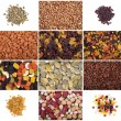 Stock Photo: A set of dried fruits, nuts, legumes and cereals