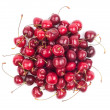 Top view of ripe cherry on white background — Stock Photo #26851101