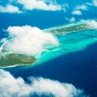 View from the plane on the island located in the Maldives — Stock Photo #30120519