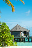 Holidays in the Maldives (bungalows on the water) — Stock Photo