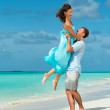 Stock Photo: Honeymoon in the Maldives. Lhaviyani Atoll