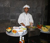 Cook of restaurant Koamas. Maldives, Lhaviyani Atoll. — Stock Photo