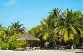 Vacation paradise in the Maldives (Lhaviyani Atoll) — Stock Photo