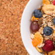 Stockfoto: Background of muesli with space for text