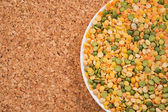 A mixture of legumes on background — Foto Stock