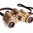 Old German military binoculars on a white background — Stock Photo