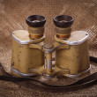 Old German military binoculars closeup — Stock Photo