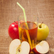 Stock Photo: Freshly squeezed apple juice