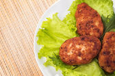 Fried veal cutlets — ストック写真