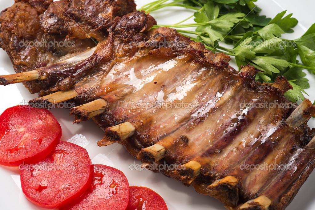 Ребрышки свиные в аджике духовке рецепт