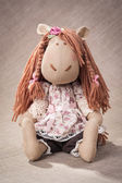 Textile horse made by hand — ストック写真
